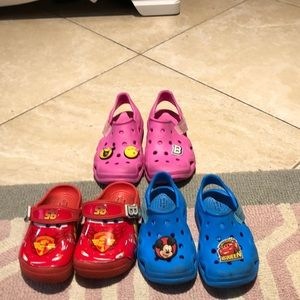 3 pack of boys and girls crocs